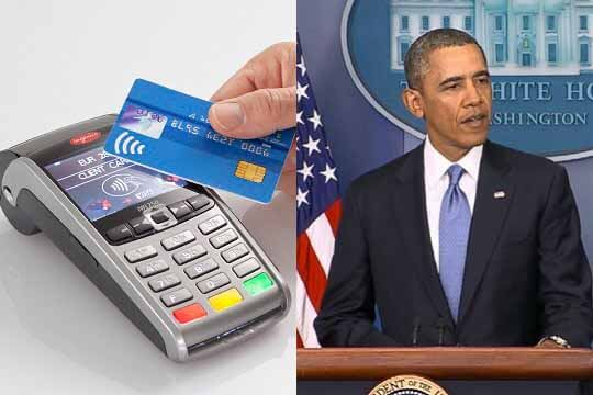 Contactless card and Obama