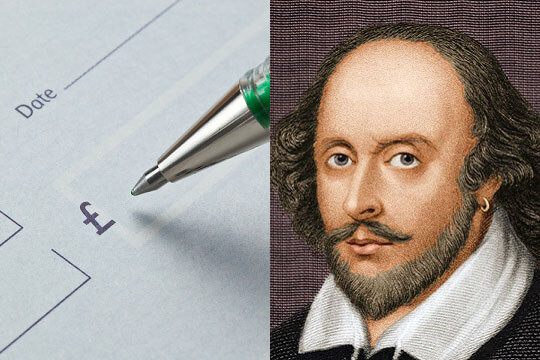 Cheque and Shakespeare