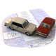 A toy car on some documents