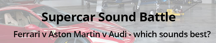 Supercar Sound Battle banner