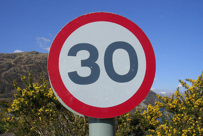 30 mpg road sign - Mikecogh