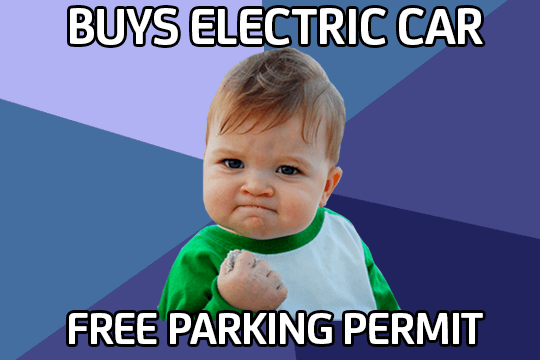 Baby electric car meme