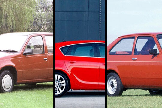 collage of three Vauxhall cars