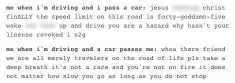 me while driving