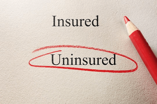 Insured uninsured