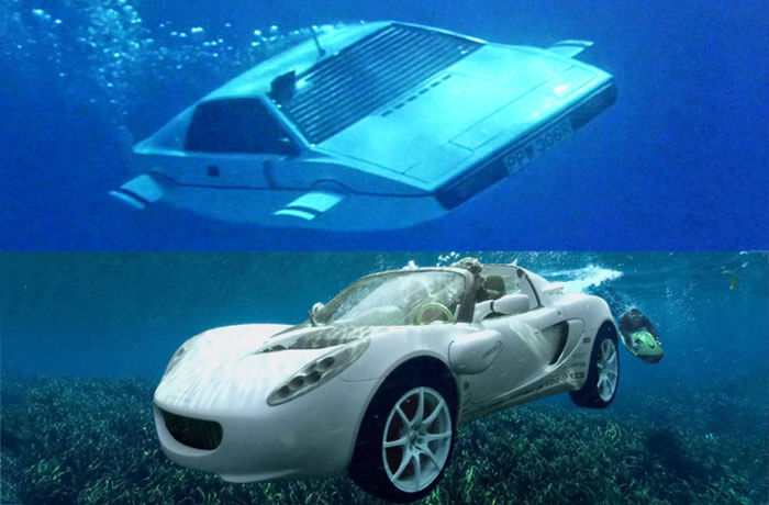 Lotus driving under water