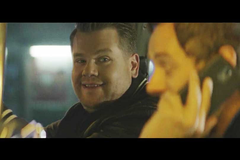 James Corden ad still