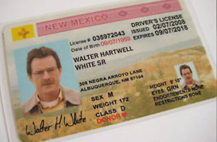 New Mexico driving licence