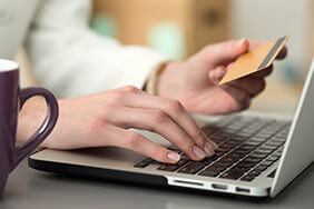 Online shopper ready to pay