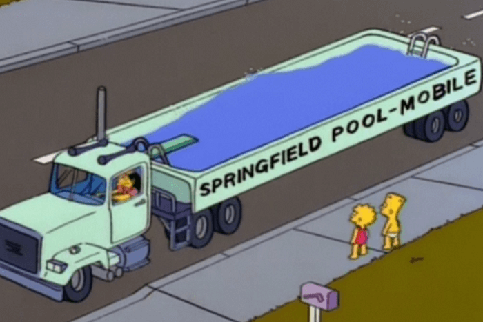simpsons mobile pool