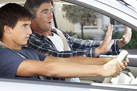 Driving instructor and a teen
