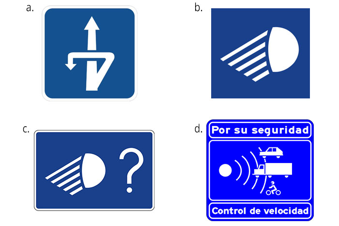 Spanish road signs