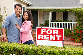 couple and for rent sign