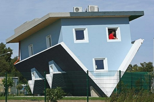Upside down self built house