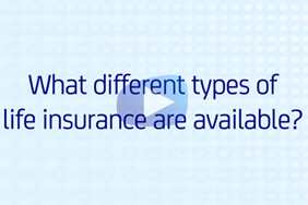 What types of life insurance are available video