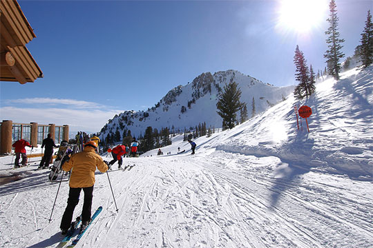 Ski resort in winter