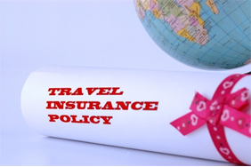 A travel insurance policy with a globe