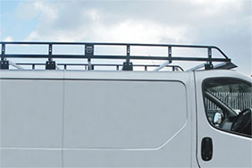 White van roof rack - teaser